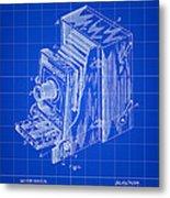 Camera Patent 1887 - Blue Metal Print