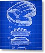 Catcher's Glove Patent 1891 - Blue Metal Print