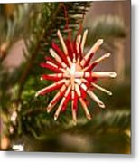 Christmas Tree Ornaments Metal Print