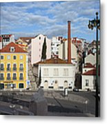City Of Lisbon In Portugal Metal Print