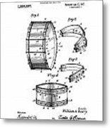 Collapsible Drum Patent 008 Metal Print
