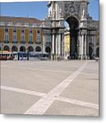 Commerce Square In Lisbon Metal Print