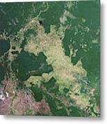 Deforestation In The Amazon Metal Print