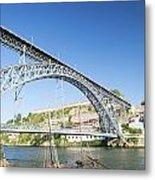 Dom Luis Bridge Porto Portugal Metal Print