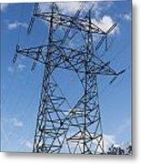 Electricity Pylon Metal Print