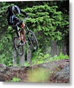 Extreme Biking In Alaska Metal Print