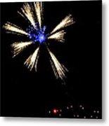 Fireworks In Neon Metal Print
