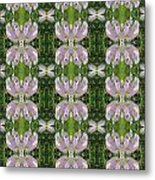 Flowers From Cherryhill Nj America Silken Sparkle Purple Tone Graphically Enhanced Innovative Patter Metal Print