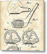 Golf Club Patent 1926 - Vintage Metal Print