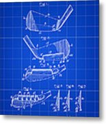 Golf Iron Patent 1914 - Blue Metal Print