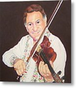 Gypsy Fiddler Metal Print