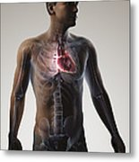 Heart Within The Chest Metal Print