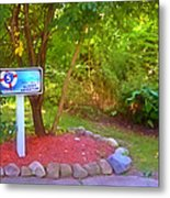 5 Hole Sign On  Golf Course 2 Metal Print