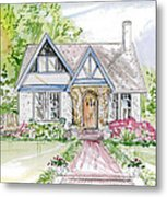House Rendering Metal Print