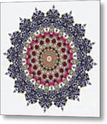 Kaleidoscope Colorful Jeweled Rhinestones Metal Print