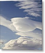 Lenticular Clouds Metal Print