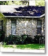 Home Made Of Limestone Metal Print