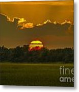 Lowcountry Sunset Over The Marsh Metal Print