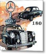 Mercedes 180 Metal Print
