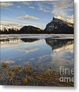 Mt. Rundle And Vermillion Lake Metal Print
