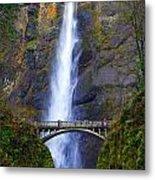 Multnomah Falls. Metal Print