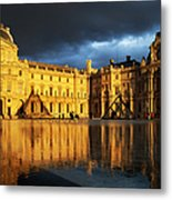 Musee Du Louvre Metal Print by Brian Jannsen