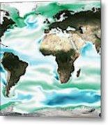 Ocean-atmosphere Co2 Exchange Metal Print