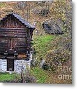 Old Rustic House Metal Print