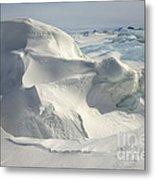 Pack Ice, Antarctica Metal Print
