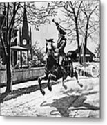 Paul Reveres Ride, 1775 Metal Print