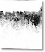 Rio De Janeiro Skyline In Watercolor On White Background Metal Print