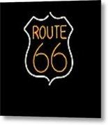 Route 66 Edited Metal Print