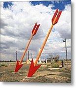 Route 66 - Twin Arrows Trading Post Metal Print