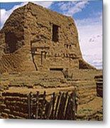 Ruins Of The Pecos Pueblo Mission Metal Print