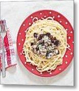 Sardines And Spaghetti Metal Print by Tom Gowanlock