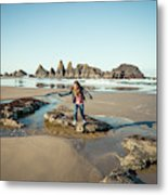 Seal Rock Beach Metal Print