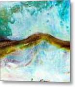 Shiny Nacre Of Paua Or Abalone Shell Background Metal Print