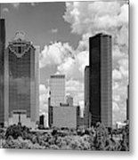Skyscrapers In A City, Houston, Texas Metal Print