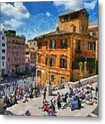 Spanish Steps At Piazza Di Spagna Metal Print