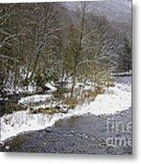 Spring Snow Williams River  Metal Print
