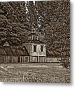 5 Star Barn Monochrome Metal Print