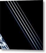 5 Strings Of Light Metal Print