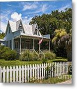 Sullivan's Island Tin Roof Story Book Cottage Metal Print