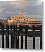 Sunset Over St Pauls Cathedral London Metal Print