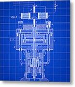 Tesla Electric Generator Patent 1894 - Blue Metal Print