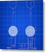 Tesla Electric Transmission Patent 1900 - Blue Metal Print