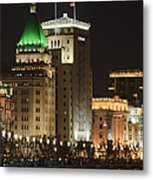 The Bund, Shanghai Metal Print