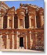 The Monastery At Petra In Jordan Metal Print