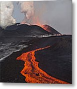 Tolbachik Volcano Erupting Kamchatka Metal Print