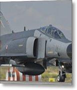Turkish Air Force F-4 Phantom At Konya Metal Print